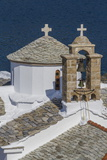 Agios Nikolaos and Panagitsa Pirgou Churches  Skopelos  Sporades  Greek Islands  Greece  Europe