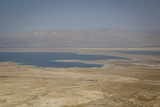 View over the Dead Sea from Masada Fortress on the Edge of the Judean Desert  Israel  Middle East
