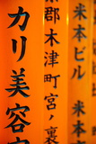 Detail of Script Written on the Torii Gates