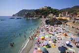 The Free Beach in the Old Town at Monterosso Al Mare