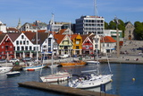 Stavanger's Picturesque Harbor  Stavanger  Rogaland  Norway  Scandinavia  Europe