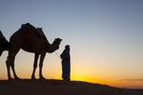 Camel Driver  Sahara Desert  Merzouga  Morocco  North Africa  Africa