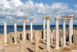 View from the Central Basilica  Apollonia  Libya  North Africa  Africa