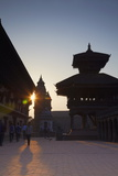 Durbar Square at Dawn  Bhaktapur  UNESCO World Heritage Site  Kathmandu Valley  Nepal  Asia