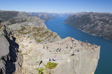 View over the Light Fjord from Preikestolen (Pulpit Rock)