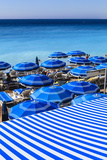 Beach Parasols  Nice  Alpes Maritimes  Provence  Cote D'Azur  French Riviera  France  Europe