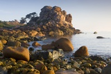 Rock Formations on the Cote De Granit Rose  France