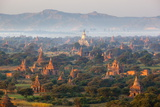 Dawn over Ancient Temples from Hot Air Balloon