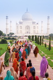 India  Uttar Pradesh  the Taj Mahal  This Mughal Mausoleum Has Become the Tourist Emblem of India