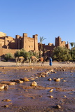 Ait Benhaddou  UNESCO World Heritage Site  Atlas Mountains  Morocco  North Africa  Africa