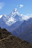 Ama Dablam from Trail Between Namche Bazaar and Everest View Hotel  Nepal  Himalayas  Asia