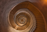 A Spiral Staircase Inside Notre Dame De Fourviere  Lyon  Rhone  Rhone-Alpes  France  Europe