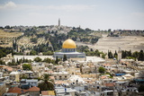 View over the Old City with the Dome of the Rock
