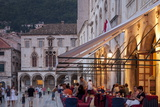 Pred Dvorom  People at Cafe at Dusk  Dubrovnik  Croatia  Europe