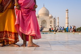 Visitors at the Taj Mahal  UNESCO World Heritage Site  Agra  Uttar Pradesh  India  Asia
