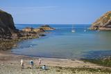 Beach Near Lower Solva  Pembrokeshire  Wales  United Kingdom  Europe