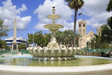 Fountain in National Heroes Square  Bridgetown  Barbados  West Indies  Caribbean  Central America