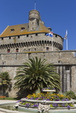 Chateau and Walled City  St Malo  Brittany  France  Europe