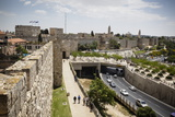 The Old City Walls  UNESCO World Heritage Site  Jerusalem  Israel  Middle East