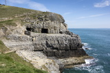 Tilly Whim Caves  Durlston Country Park  Isle of Purbeck  Dorset  England  United Kingdom  Europe