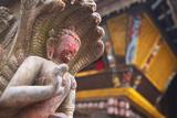 Statue at Bhimsen Temple  Kathmandu  Nepal  Asia