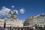 Cafes and Church of Our Lady before Tyn  Old Town Square  Old Town  Prague  Czech Republic  Europe