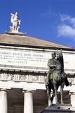Teatro Carlo Felice and Garibaldi Statue  Genoa  Liguria  Italy  Europe