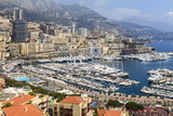 High Angle View of Monaco and Harbour  Monaco  Mediterranean  Europe