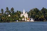 Church on the Shores of Ashtamudi Lake  Kollam  Kerala  India  Asia