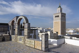 View over the Medina of Tunis Towards the Main Mosque  Tunisia  North Africa  Africa