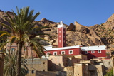 The Red Mosque of Adai  Tafraoute  Anti Atlas  Morocco  North Africa  Africa