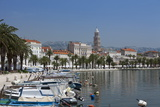 Waterfront  Harbour and Cathedral  Split  Croatia  Europe