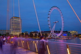 River Thames and London Eye from the Golden Jubilee Bridge at Dusk