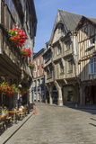 Rue De L'Apport  Old Town  Dinan  Brittany  France  Europe