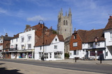 View of Church and Woolpack Hotel  High Street  Tenterden  Kent  England  United Kingdom  Europe