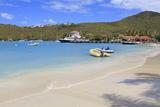Beach in Cruz Bay  St John  United States Virgin Islands  West Indies  Caribbean  Central America