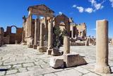 The Capitol Temples (Capitolium)  Roman Ruins of Sbeitla  Tunisia  North Africa  Africa