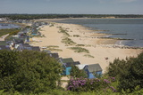 Beach Huts and Sand Dunes on Mudeford Spit at Hengistbury Head