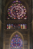 Cathedral West Windows  Rheims  UNESCO World Heritage Site  Marne  France  Europe