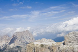 View of the Sassolungo Range from Gruppo Del Sella  Dolomites  Italy