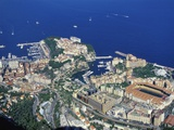 Aerial View of Monaco in the Summer