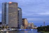 Hillsborough River and Skyline  Tampa  Florida  United States of America  North America