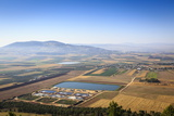 A View over Jezreel Valley from Mount Precipice  Nazareth  Galilee Region  Israel  Middle East