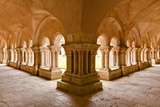 The Cloisters of Fontenay Abbey  UNESCO World Heritage Site  Cote D'Or  Burgundy  France  Europe