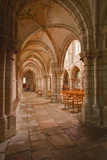 Looking Down an Aisle in the Church of Notre Dame  Saint Pere  Yonne  Burgundy  France  Europe