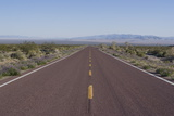 Road Through the Mojave Desert  California  United States of America  North America