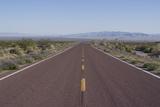 Road Through the Mojave Desert  California  United States of America  North America