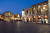 Roman Arena at Night  Verona  Italy