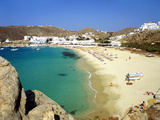 Beach  Plati Yialos  Mykonos  Greece