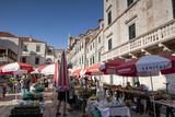 Market in Gundulic's Square  Dubrovnik  Croatia  Europe